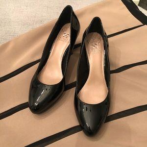 Vince Camuto Black Shiny Pumps Heels